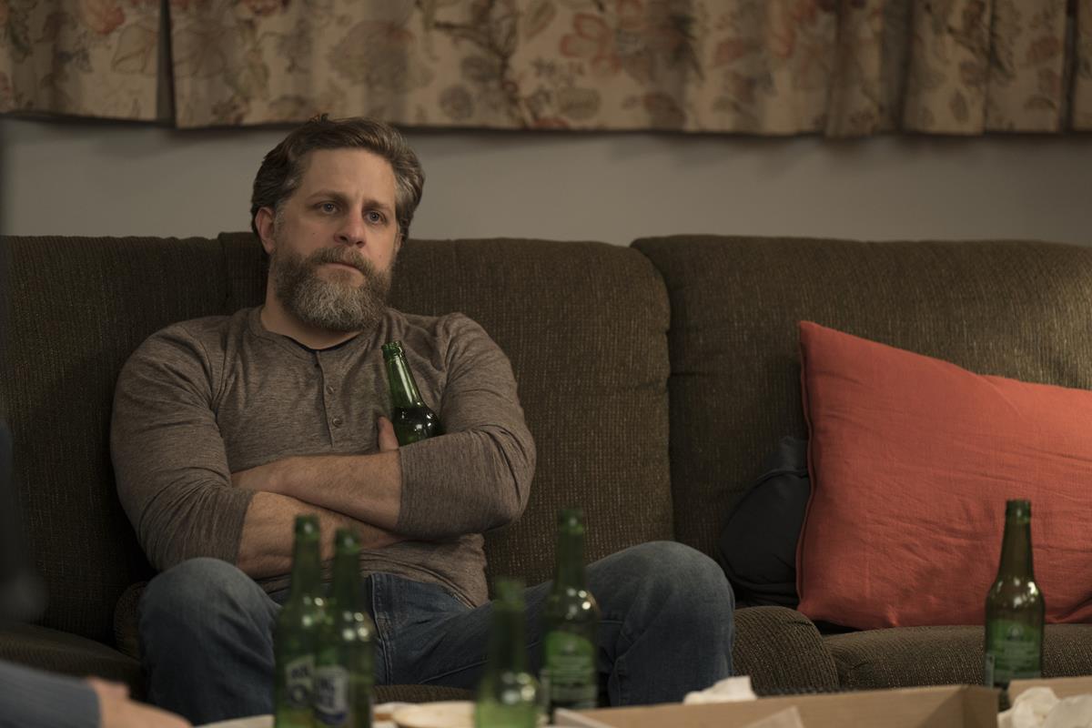 "Joe Tippett in ""Mare of Easttown."" Cr: HBO"