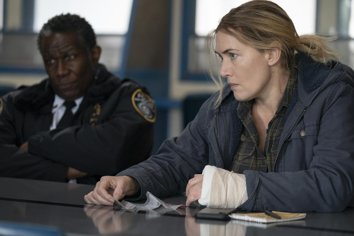 """John Douglas Thompson and Kate Winslet in """"Mare of Easttown."""" Cr: HBO"""