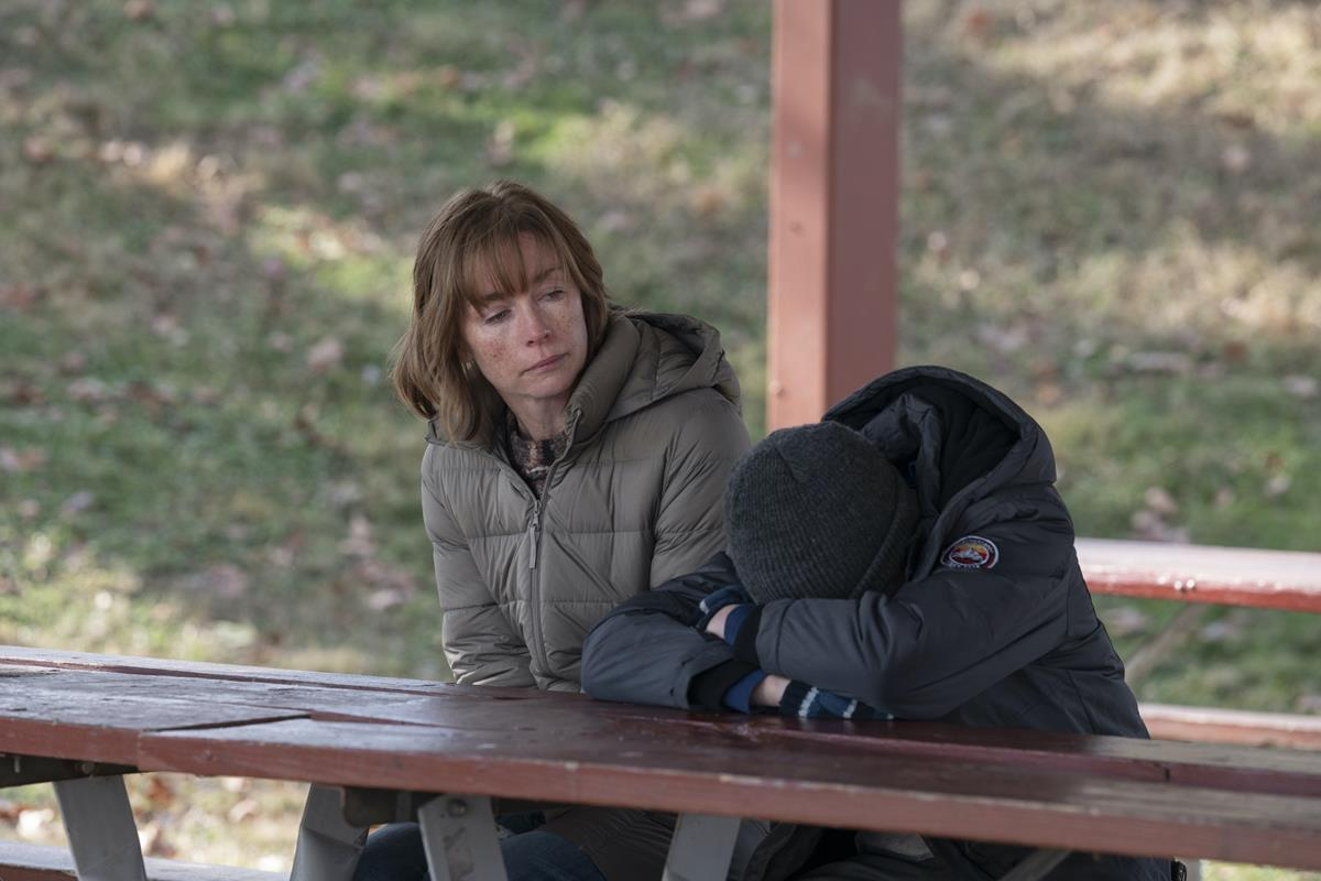"""Julianne Nicholson and Cameron Mann in """"Mare of Easttown."""" Cr: HBO"""