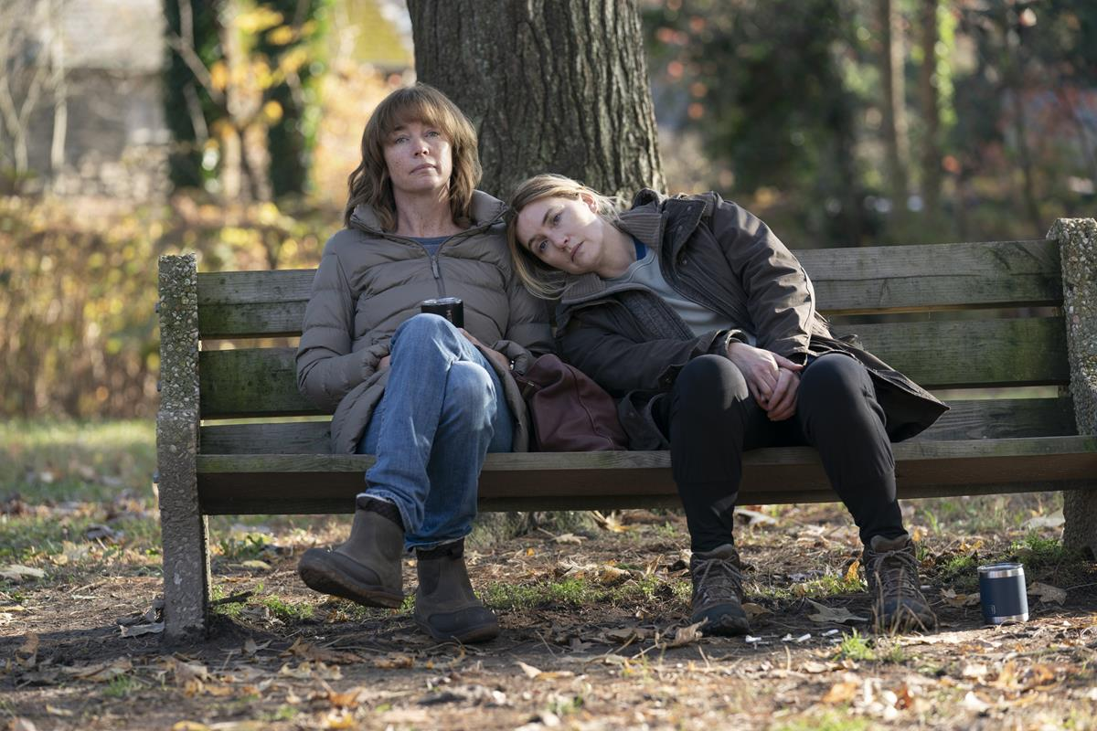 """Julianne Nicholson and Kate Winslet in """"Mare of Easttown."""" Cr: HBO"""