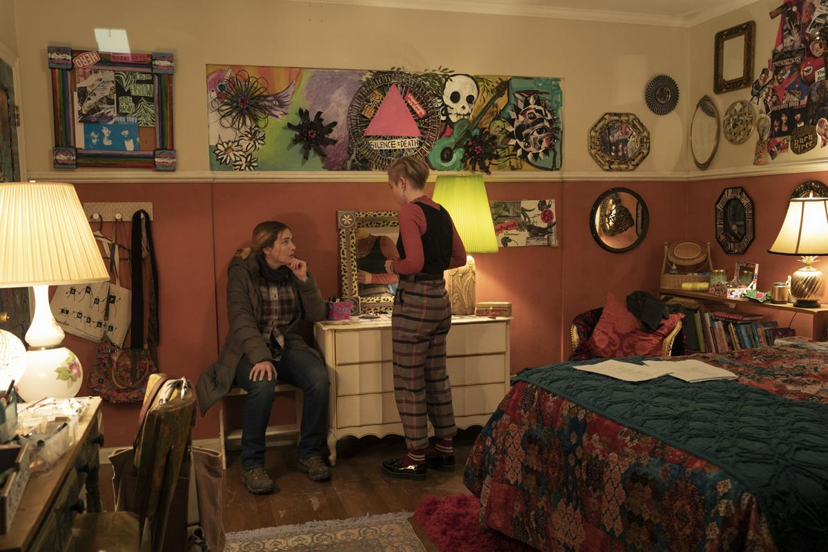 """Kate Winslet and Angourie Rice in """"Mare of Easttown."""" Cr: HBO"""