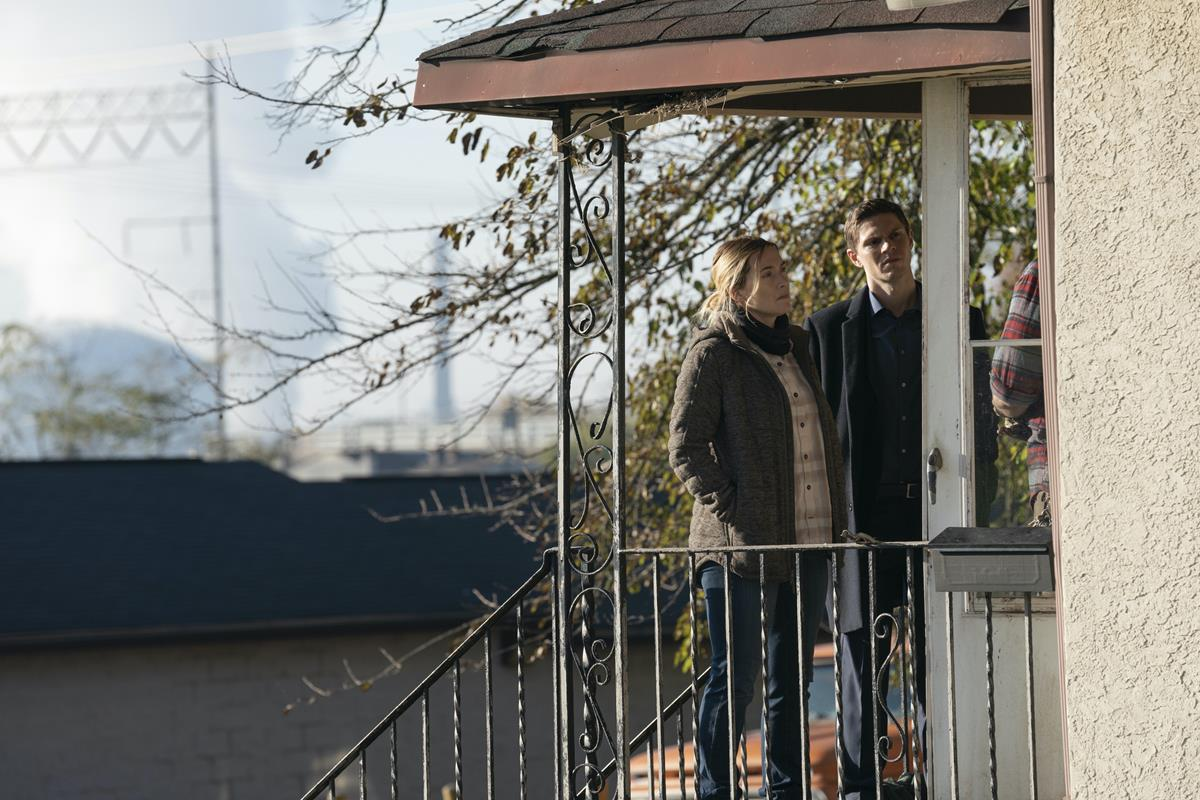 """Kate Winslet and Evan Peters in """"Mare of Easttown."""" Cr: HBO"""
