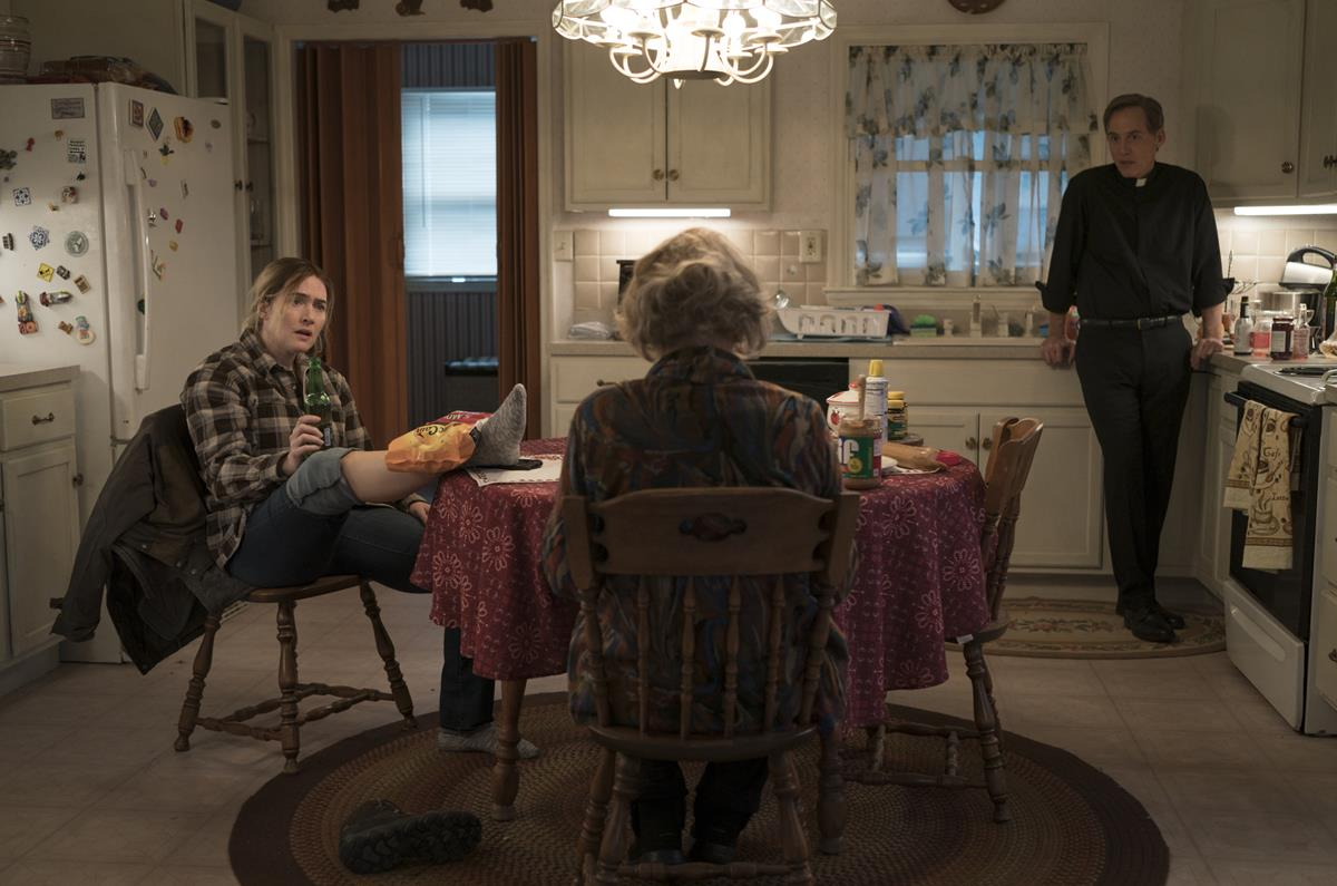 """Kate Winslet, Jean Smart and Neal Huff in """"Mare of Easttown."""" Cr: HBO"""