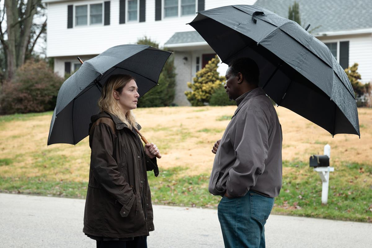 """Kate Winslet and John Douglas Thompson in """"Mare of Easttown."""" Cr: HBO"""