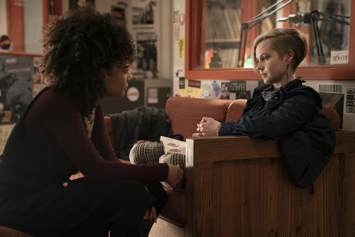 """Kiah McKirnan and Angourie Rice in in """"Mare of Easttown."""" Cr: HBO"""