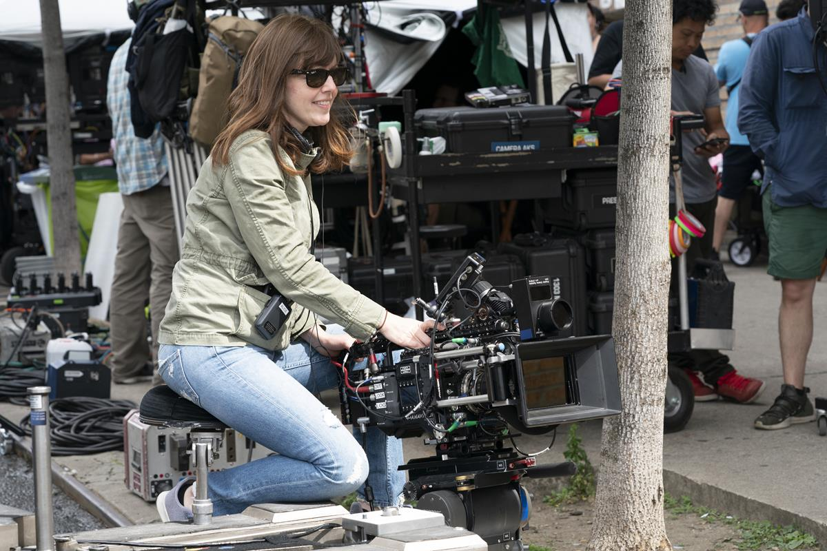 """Director of photography Alice Brooks on the set of the screen adaptation of director Jon M. Chu's screen adaptation of """"In The Heights."""" Cr: Macall Polay/Warner Bros."""