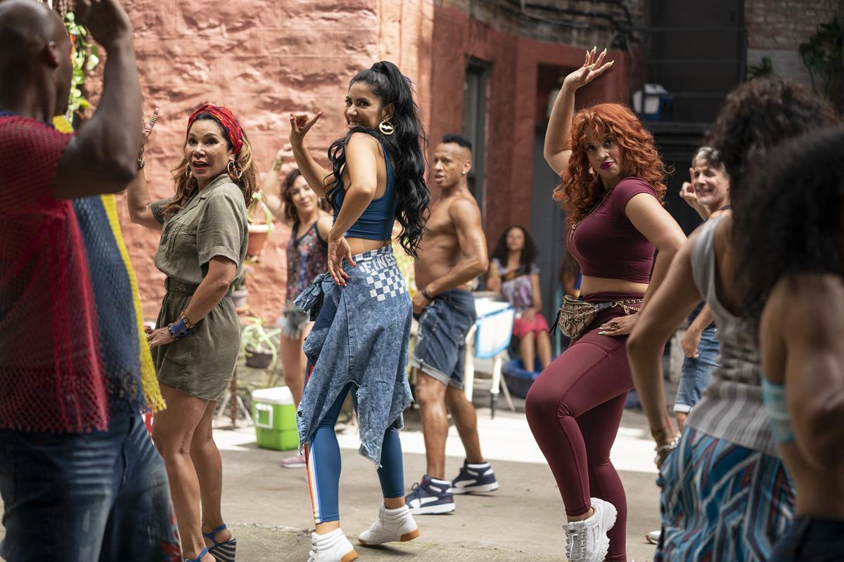 "Daphne Rubin-Vega as Daniela, Stephanie Beatriz as Carla and Dascha Polanco as Cuca in director Jon Chu's screen adaptation of ""In The Heights."" Cr: Macall Polay/Warner Bros."