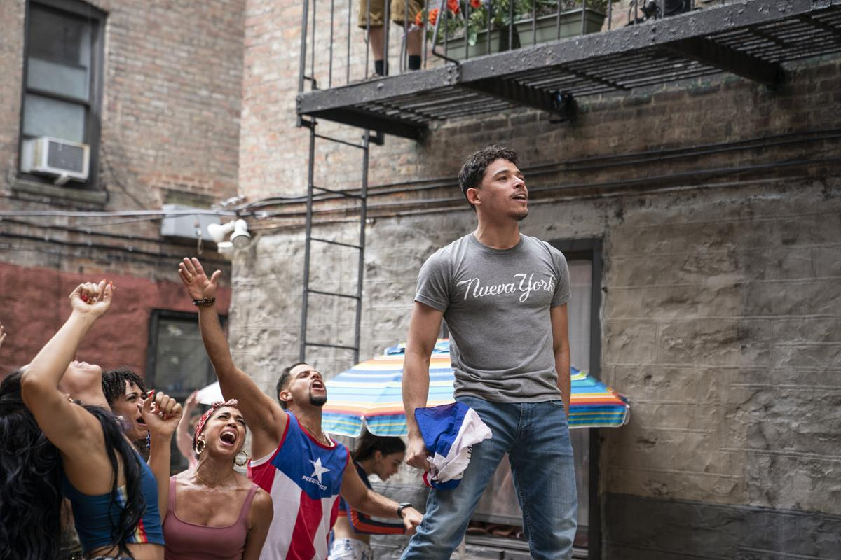 """Anthony Ramos as Usnavi in director Jon Chu's screen adaptation of """"In The Heights."""" Cr: Macall Polay/Warner Bros."""