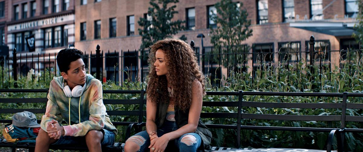 """Gregory Diaz IV as Sonny and Leslie Grace as Nina Rosario in director Jon M. Chu's screen adaptation of """"In The Heights."""" Cr: Macall Polay/Warner Bros."""