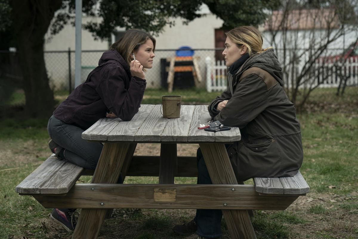 """Sosie Bacon and Kate Winslet in """"Mare of Easttown."""" Cr: HBO"""