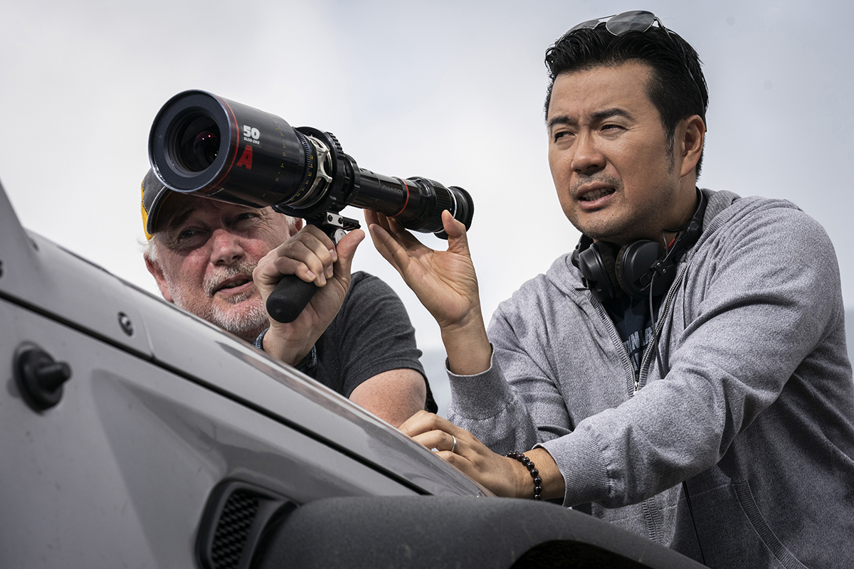 """Director Justin Lin on the set of """"F9."""" Cr: Universal"""