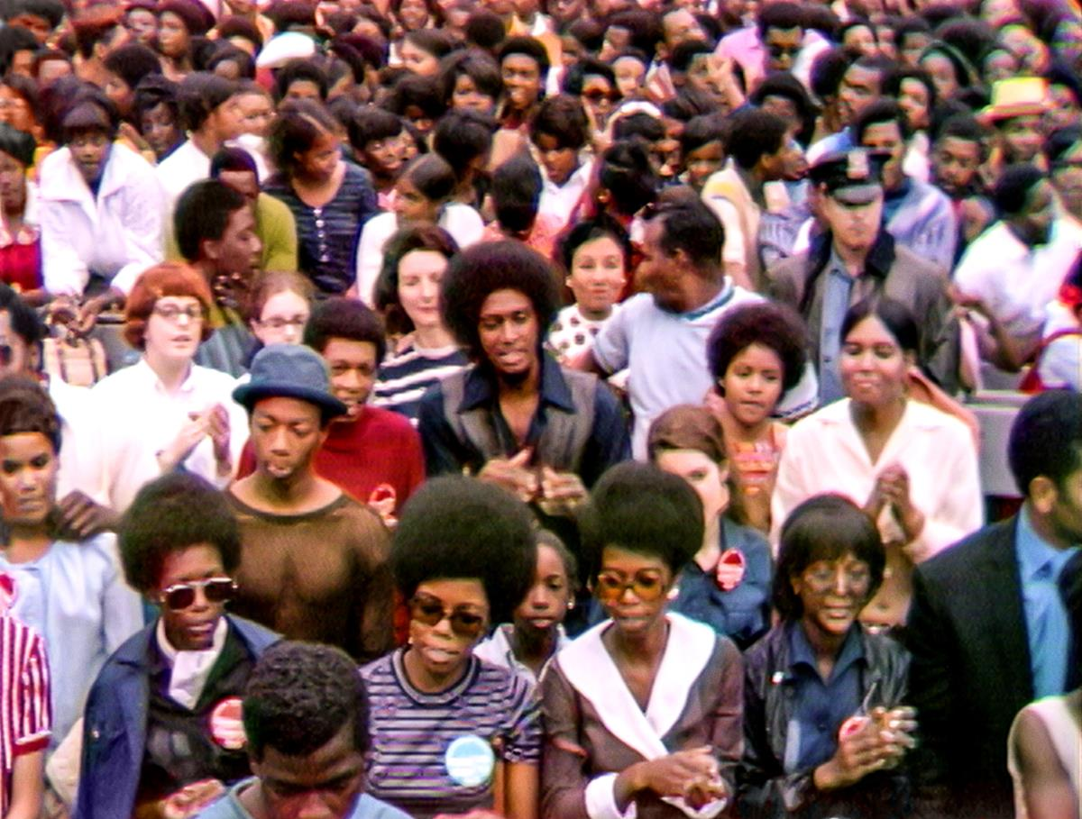 """The Harlem Cultural Festival in 1969, featured in the documentary """"Summer Of Soul (Or, When The Revolution Could Not Be Televised)."""" Cr: Mass Distraction Media/Searchlight Pictures"""