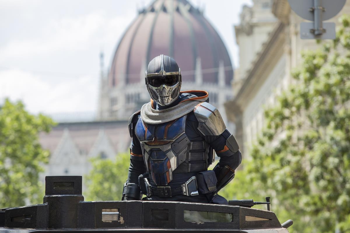 "Olga Kurylenko as Antonia Dreykov/Taskmaster in Marvel's ""Black Widow."" Cr: Marvel Studios"