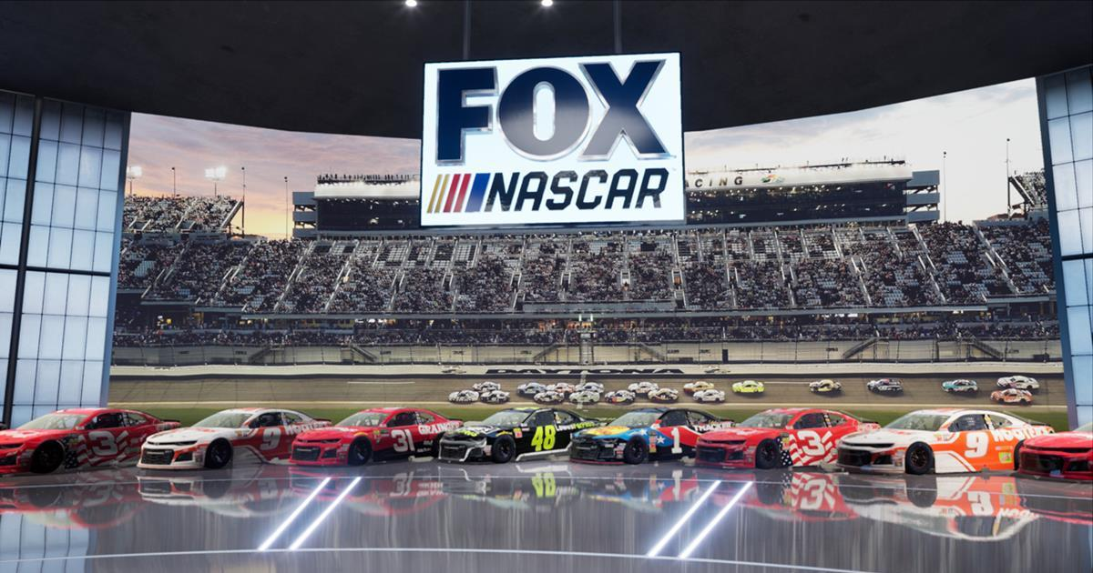 FOX Sports deployed the Epic Games Unreal Engine to develop its virtual set for NASCAR coverage. Cr: FOX sports
