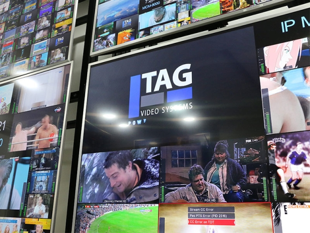 TAG Video Systems monitors and multiviewers in situ at Cablesat in Japan. Cr: TAG Video Systems