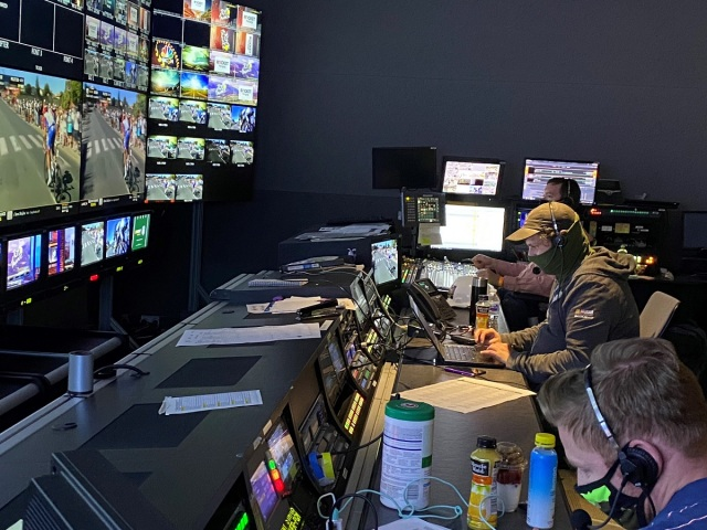 NBC Sports Group pressed its Stamford Broadcast Center into action for at-home coverage of the 2020 Tour de France. Cr: Sports Video Group