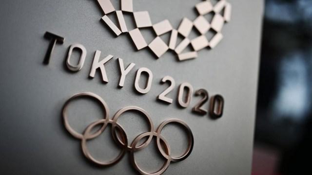 Bronze embossed Tokyo 2020 logo. Cr: CBS Sports