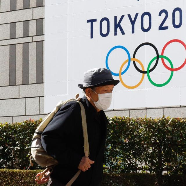 According to research company Ipsos, 22% of people in host nation Japan said the Olympics should go ahead while 78% said it should not. Cr: Getty Images
