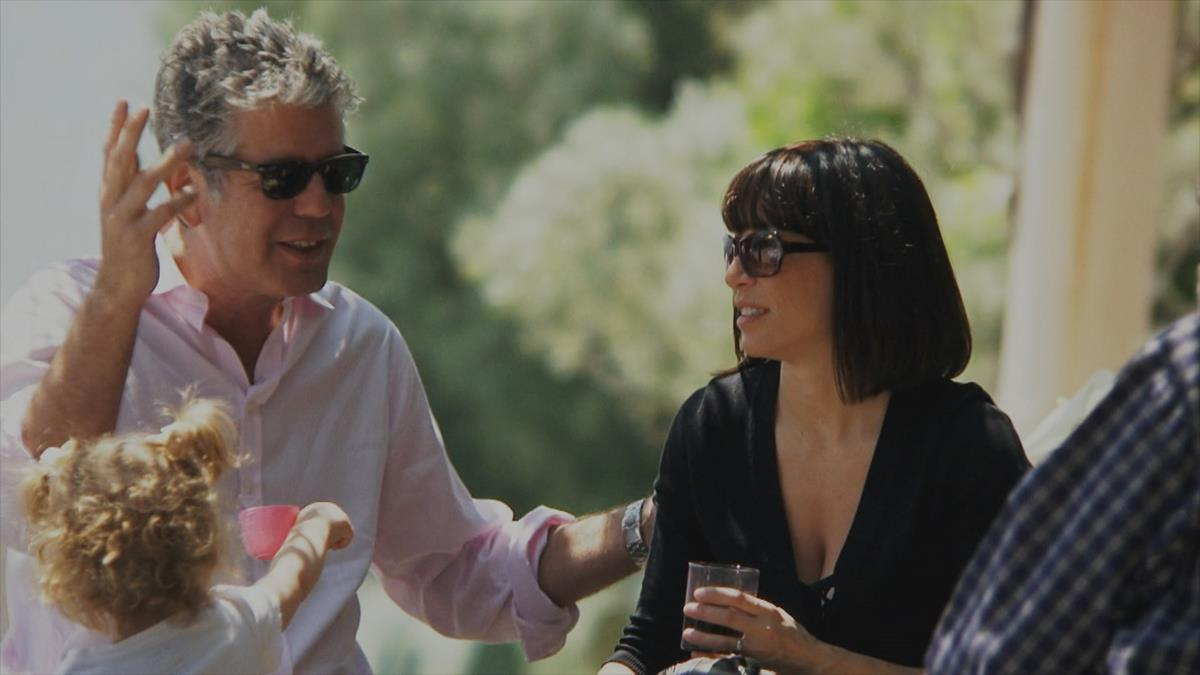 """Anthony Bourdain and Ottavia Busia-Bourdain star in Morgan Neville's documentary, """"Roadrunner."""" Cr: Discovery Access/Focus Features"""