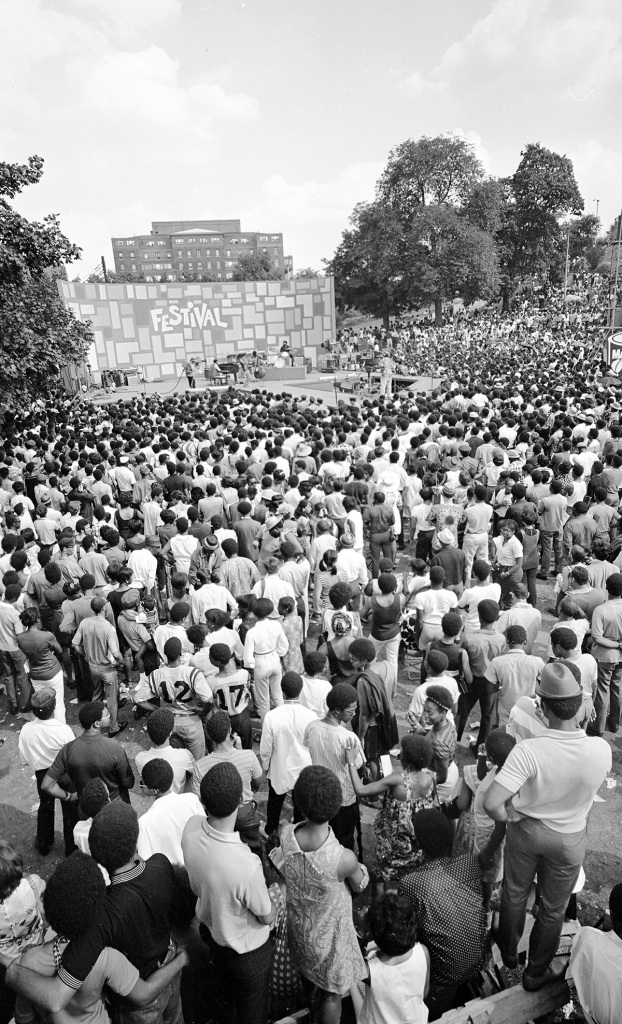 """Hundreds of thousands of people attended the Harlem Cultural Festival in 1969, featured in the documentary """"Summer Of Soul (Or, When The Revolution Could Not Be Televised)."""" Cr: Mass Distraction Media/Searchlight Pictures"""