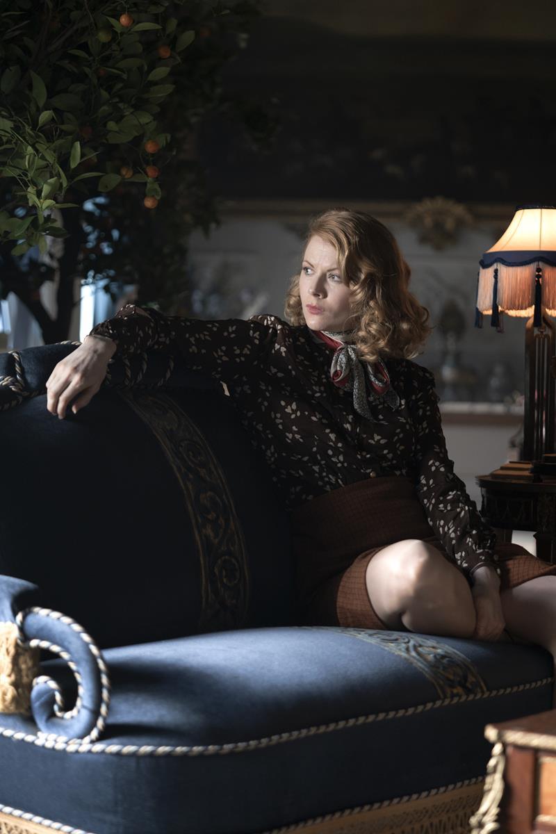 "Emily Beecham as Fanny Logan in ""The Pursuit of Love."" Cr: Robert Viglasky/BBC"