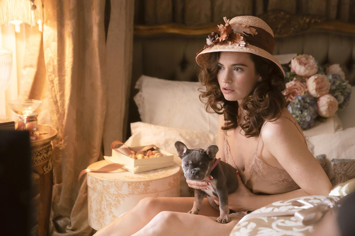 "Lily James as Linda Radlett in ""The Pursuit of Love."" Cr: Robert Viglasky/BBC"