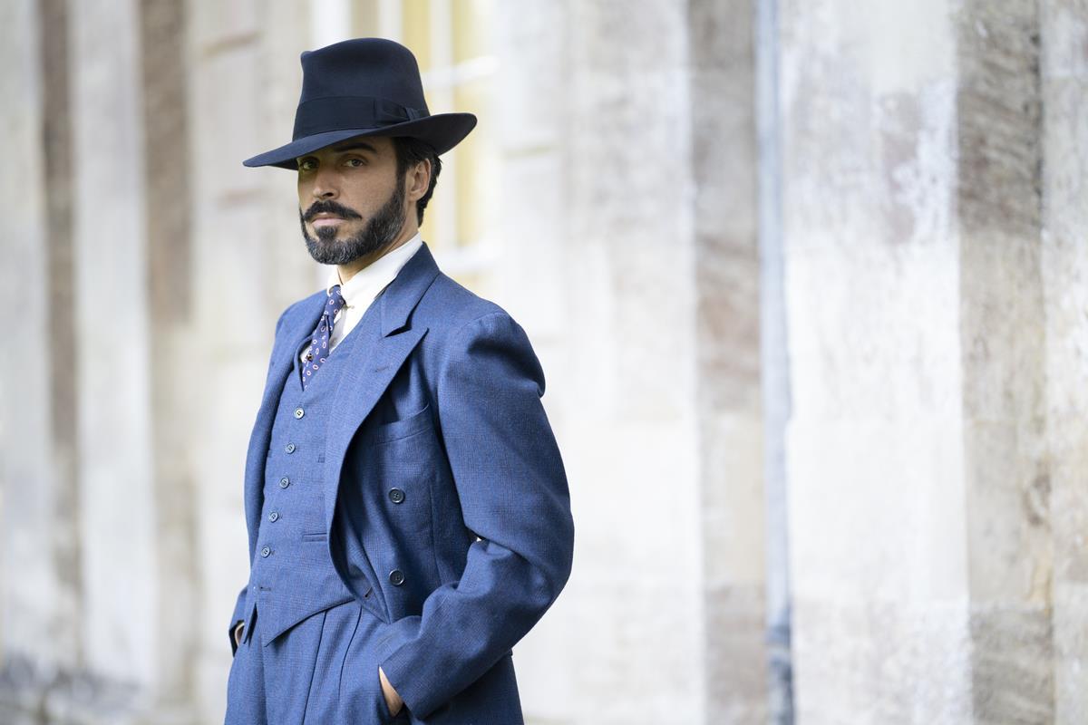 "Assaad Bouab as Fabrice De Sauveterre in ""The Pursuit of Love."" Cr: Robert Viglasky/BBC"