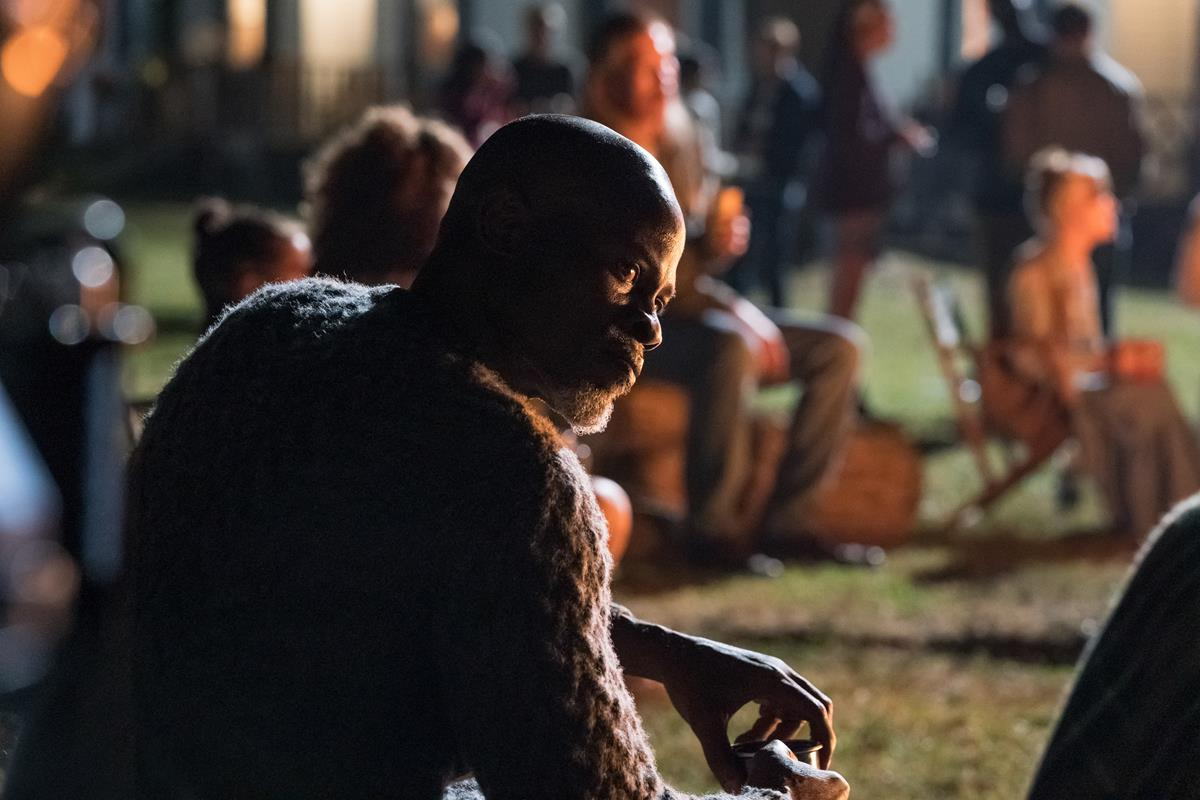 """Man on Island (Djimon Hounsou) braves the unknown in """"A Quiet Place Part II."""" Cr: Paramount Pictures"""