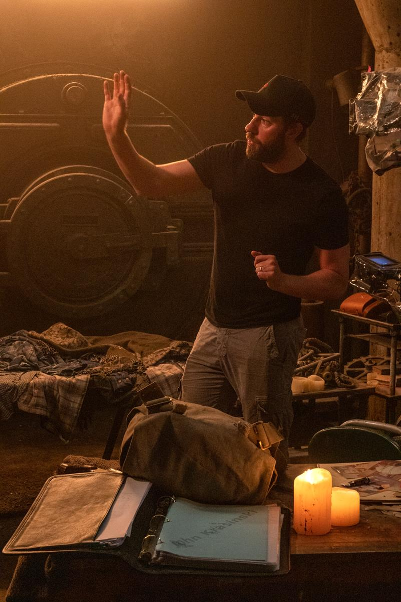 """Director John Krasinski on the set of """"A Quiet Place Part II."""" Cr: Paramount Pictures"""