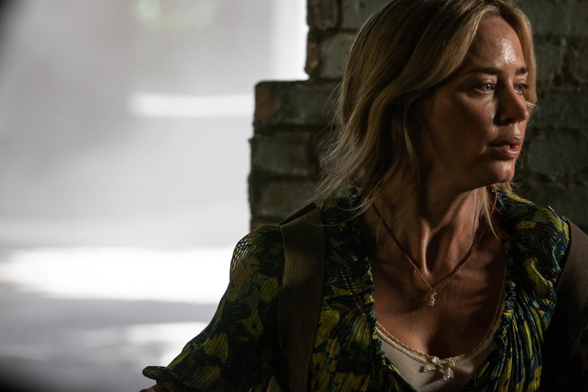 """Evelyn (Emily Blunt) braves the unknown in """"A Quiet Place Part II."""" Cr: Paramount Pictures"""