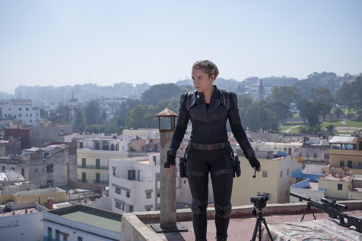 "Florence Pugh as Yelena Belova/Black Widow in Marvel's ""Black Widow."" Cr: Marvel Studios"