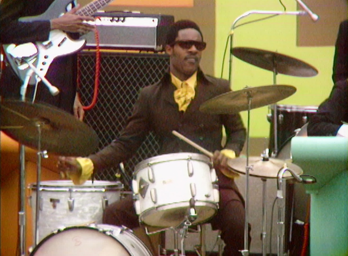 """Stevie Wonder performs at the Harlem Cultural Festival in 1969, featured in the documentary """"Summer Of Soul (Or, When The Revolution Could Not Be Televised)."""" Cr: Mass Distraction Media/Searchlight Pictures"""