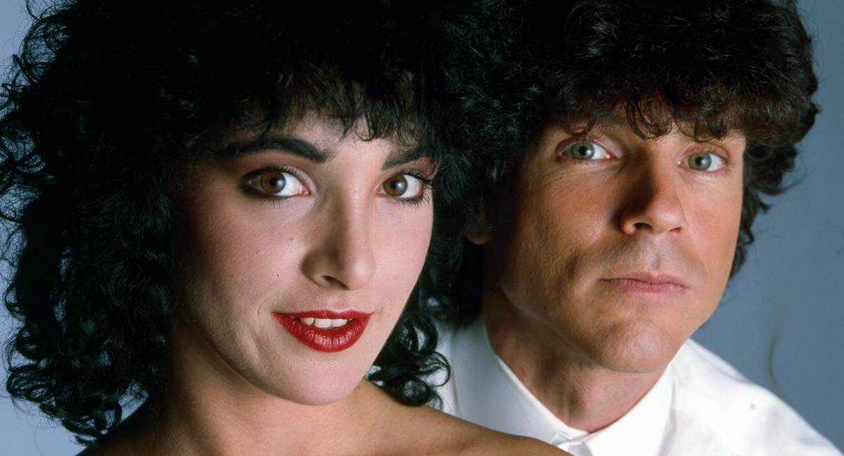 """Jane Wiedlin and Russel Mael in """"The Sparks Brothers."""" Cr: Focus Features"""