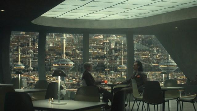 "Mobius (Owen Wilson) and Loki (Tom Hiddleston) in Episode 2 of Marvel Studios' ""Loki."" Cr: Marvel Studios"