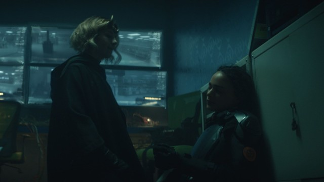 """Sylvie (Sophia Di Martino) and Hunter C-20 (Sasha Lane) in Episode 3 of Marvel Studios' """"Loki."""" Cr: Marvel Studios"""