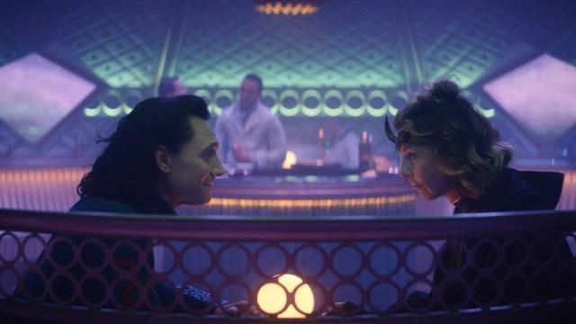 """Loki (Tom Hiddleston) and Sophia Di Martino in Episode 3 of Marvel Studios' """"Loki."""" Cr: Marvel Studios"""