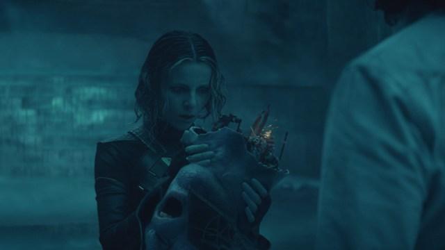 """Sylvie (Sophia Di Martino) and Loki (Tom Hiddleston) in Episode 4 of Marvel Studios' Loki."""" Cr: Marvel Studios"""