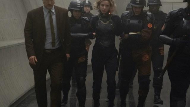 """Mobius (Owen Wilson) and Sylvie (Sophia Di Martino) in Episode 4 of Marvel Studios' """"Loki."""" Cr: Chuck Zlotnick/Marvel Studios"""