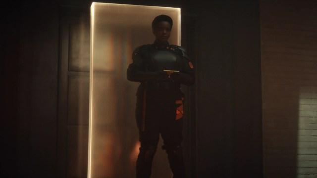 "Hunter B-15 (Wunmi Mosaku) in Episode 4 of Marvel Studios' ""Loki."" Cr: Marvel Studios"