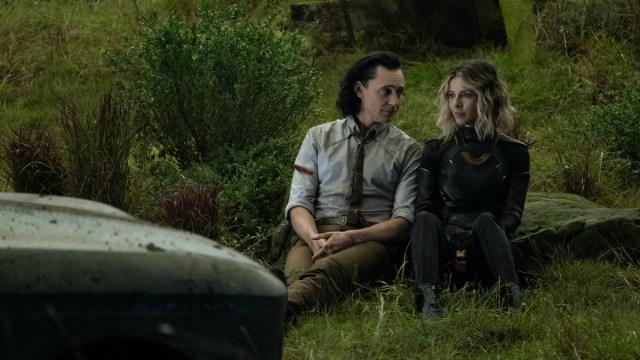 """Loki (Tom Hiddleston) and Sylvie (Sophia Di Martino) in Episode 5 of Marvel Studios' """"Loki."""" Cr: Chuck Zlotnick/Marvel Studios"""