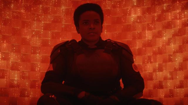 "Hunter B-15 (Wunmi Mosaku) in Episode 5 of Marvel Studios' ""Loki."" Cr: Marvel Studios"