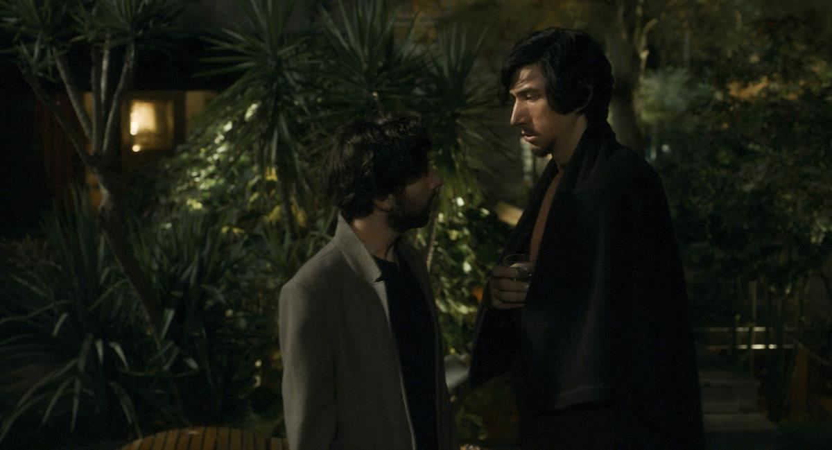 """Simon Helberg as The Conductor and Adam Driver as Henry McHenry in director Leos Carax's """"Annette."""" Cr: Amazon Studios"""