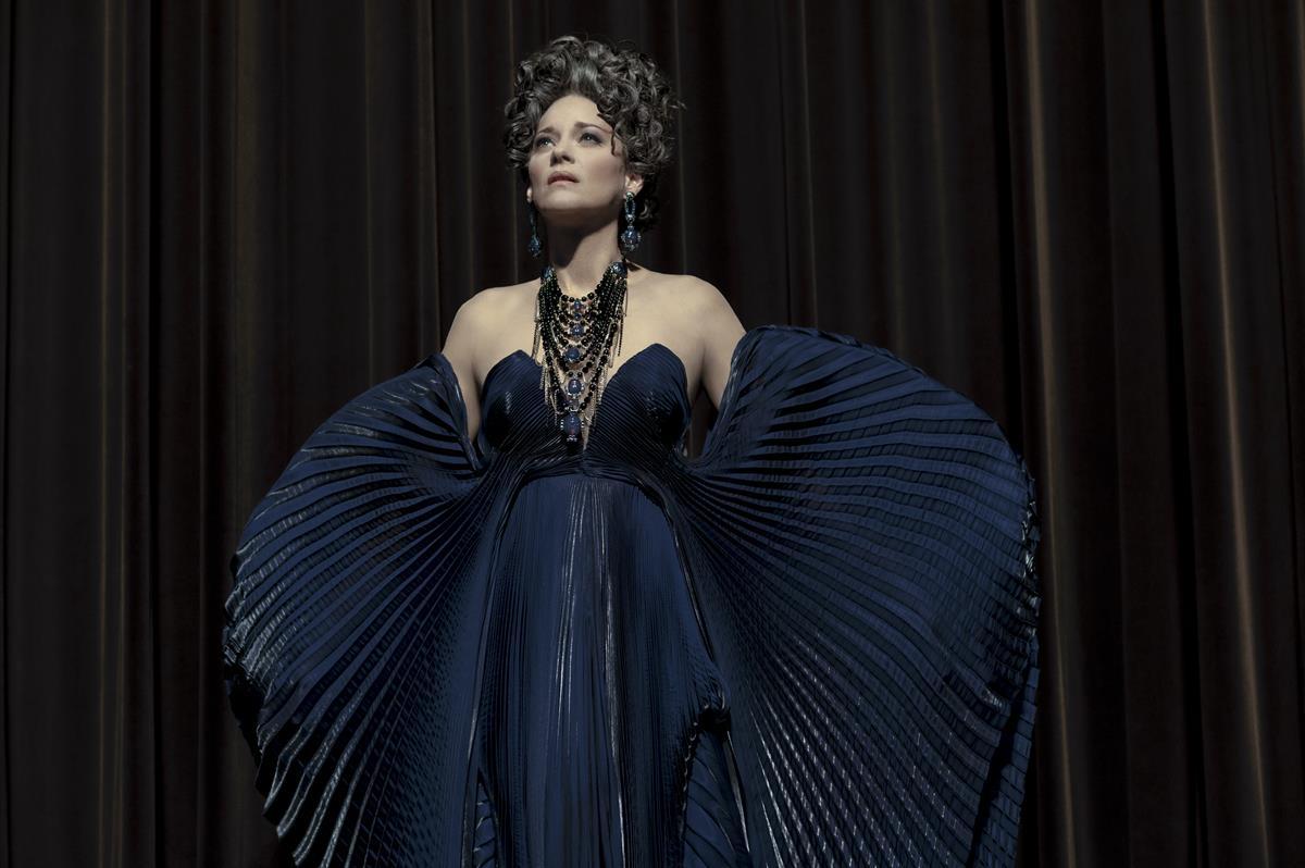 """Marion Cotillard as Ann Defrasnoux in director Leos Carax's """"Annette."""" Cr: Kris Dewitte/Amazon Studios"""