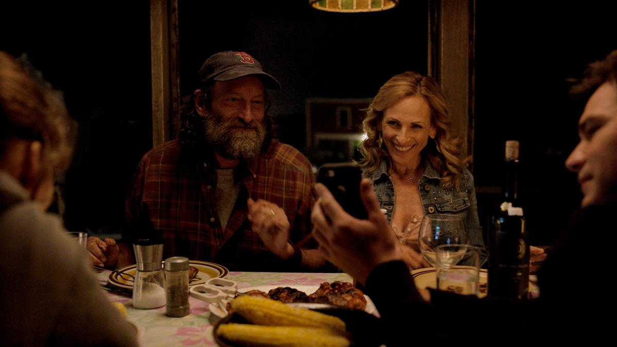 "Emilia Jones as Ruby Rossi, Troy Kotsur as Frank Rossi, Marlee Matlin as Jackie Rossi, and Daniel Durant as Leo Rossi in director Siân Heder's ""CODA."" Cr: Apple TV+"
