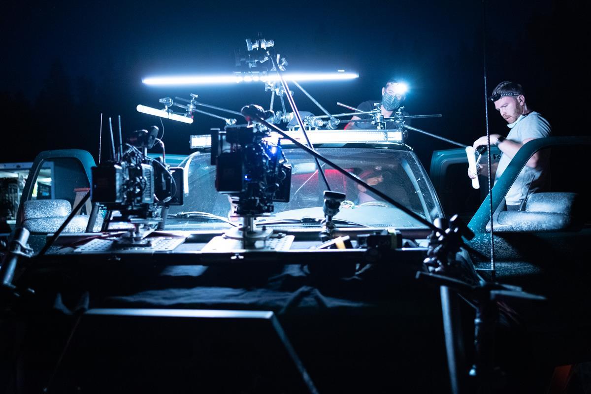 "Behind the scenes of director Neill Blomkamp's ""Demonic."" Cr: IFC Midnight"