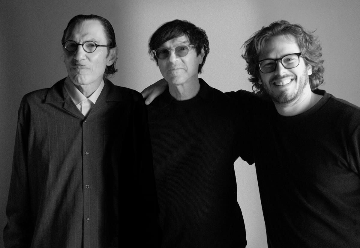"""Ron Mael, Russel Mael, and Edgar Wright in """"The Sparks Brothers."""" Cr: Focus Features"""