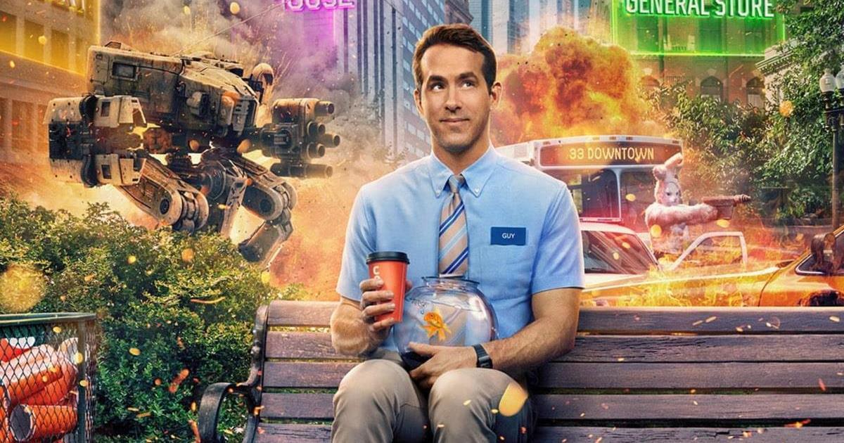 "Ryan Reynolds as Guy in ""Free Guy."" Cr: 20th Century Studios"