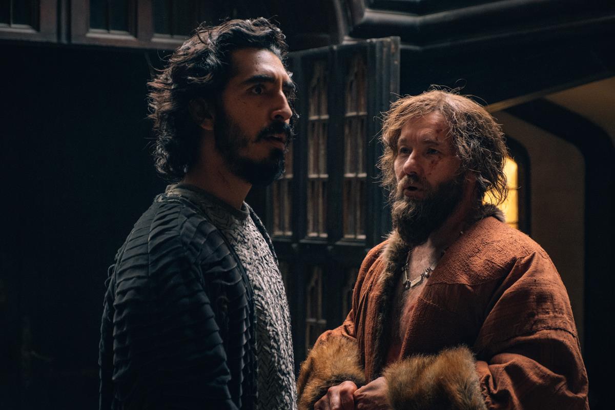 "Dev Patel and Joel Edgerton in ""The Green Knight."" Cr: Eric Zachanowich/A24"