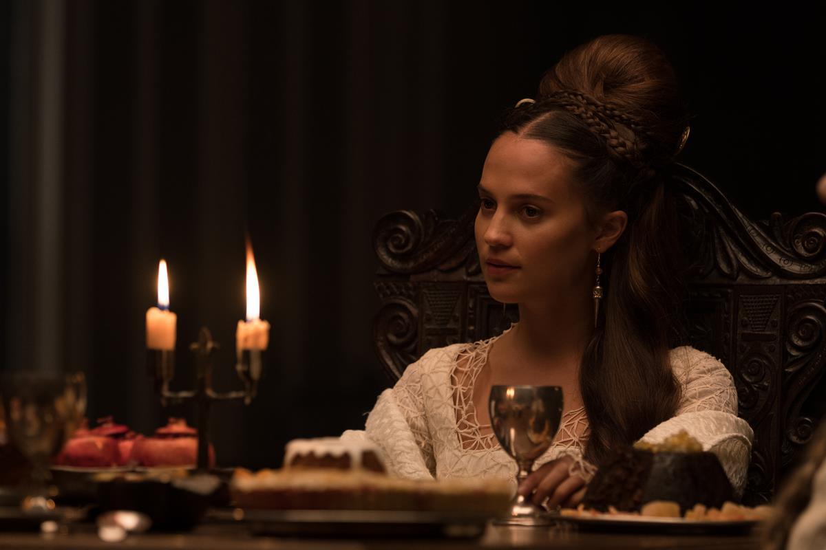 """Alicia Vikander in """"The Green Knight."""" Cr: Eric Zachanowich/A24"""