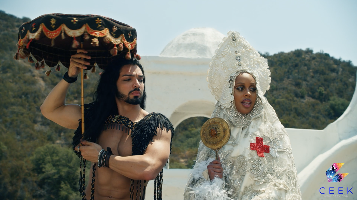 """Sia Zami and Nicole Montgomery in Lady Gaga's """"911,"""" directed by Tarsem Singh. Cr: CEEK"""